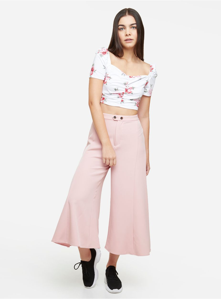 Mujer Pantalones Mujer Test Brand Name Pantalones Tiro Alto Rosado 6 Sevenecuador